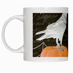 Vintage Halloween White Mugs by Valentinaart