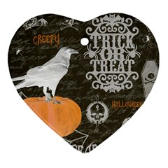Vintage Halloween Heart Ornament (two Sides) by Valentinaart