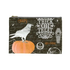 Vintage Halloween Cosmetic Bag (large)  by Valentinaart