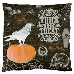 Vintage Halloween Large Flano Cushion Case (two Sides) by Valentinaart