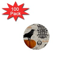 Vintage Halloween 1  Mini Buttons (100 Pack)  by Valentinaart