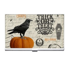 Vintage Halloween Business Card Holders by Valentinaart