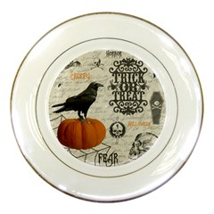 Vintage Halloween Porcelain Plates by Valentinaart