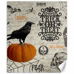 Vintage Halloween Canvas 8  X 10  by Valentinaart
