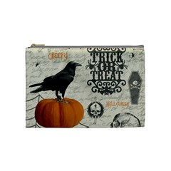 Vintage Halloween Cosmetic Bag (medium)  by Valentinaart