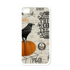 Vintage Halloween Apple Iphone 4 Case (white) by Valentinaart