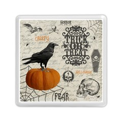 Vintage Halloween Memory Card Reader (square)  by Valentinaart