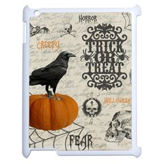 Vintage Halloween Apple Ipad 2 Case (white) by Valentinaart