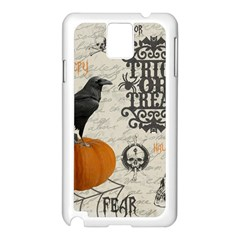 Vintage Halloween Samsung Galaxy Note 3 N9005 Case (white) by Valentinaart