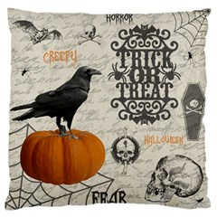 Vintage Halloween Large Flano Cushion Case (one Side) by Valentinaart