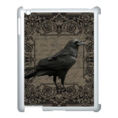 Vintage Halloween Raven Apple Ipad 3/4 Case (white) by Valentinaart