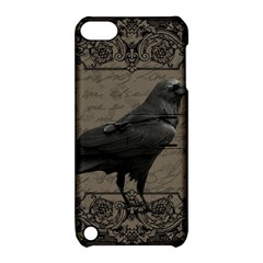Vintage Halloween Raven Apple Ipod Touch 5 Hardshell Case With Stand by Valentinaart