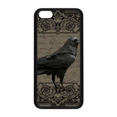 Vintage Halloween Raven Apple Iphone 5c Seamless Case (black) by Valentinaart