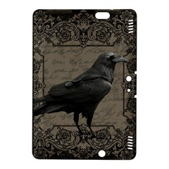 Vintage Halloween Raven Kindle Fire Hdx 8 9  Hardshell Case by Valentinaart