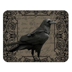 Vintage Halloween Raven Double Sided Flano Blanket (large)  by Valentinaart