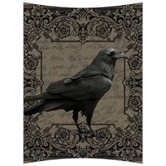 Vintage Halloween Raven Back Support Cushion by Valentinaart