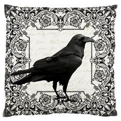 Vintage Halloween Raven Large Cushion Case (two Sides) by Valentinaart