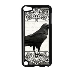 Vintage Halloween Raven Apple Ipod Touch 5 Case (black) by Valentinaart