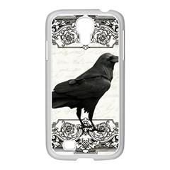 Vintage Halloween Raven Samsung Galaxy S4 I9500/ I9505 Case (white) by Valentinaart