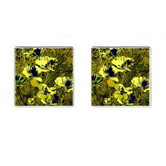 Amazing Glowing Flowers 2c Cufflinks (square) by MoreColorsinLife