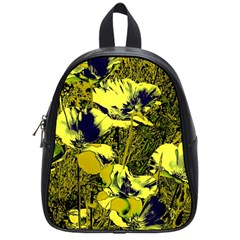 Amazing Glowing Flowers 2c School Bag (small) by MoreColorsinLife