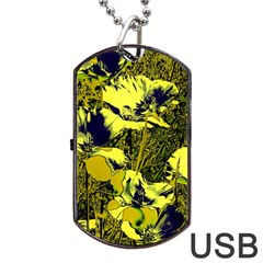 Amazing Glowing Flowers 2c Dog Tag Usb Flash (two Sides) by MoreColorsinLife