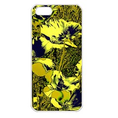 Amazing Glowing Flowers 2c Apple Iphone 5 Seamless Case (white) by MoreColorsinLife