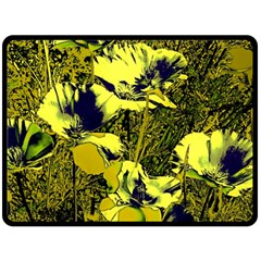 Amazing Glowing Flowers 2c Double Sided Fleece Blanket (large)  by MoreColorsinLife
