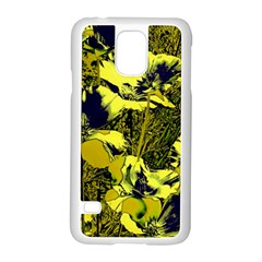 Amazing Glowing Flowers 2c Samsung Galaxy S5 Case (white) by MoreColorsinLife