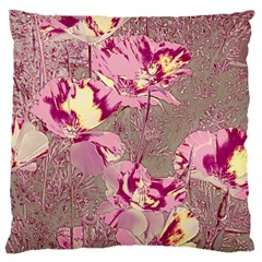 Amazing Glowing Flowers 2b Large Cushion Case (two Sides) by MoreColorsinLife