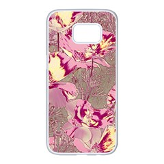 Amazing Glowing Flowers 2b Samsung Galaxy S7 Edge White Seamless Case by MoreColorsinLife