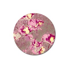 Amazing Glowing Flowers 2b Magnet 3  (round) by MoreColorsinLife