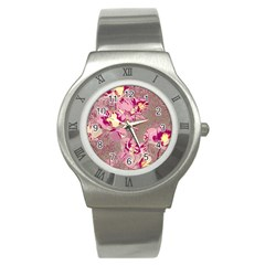 Amazing Glowing Flowers 2b Stainless Steel Watch by MoreColorsinLife
