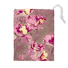 Amazing Glowing Flowers 2b Drawstring Pouches (extra Large) by MoreColorsinLife