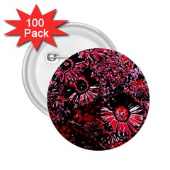 Amazing Glowing Flowers C 2 25  Buttons (100 Pack)  by MoreColorsinLife