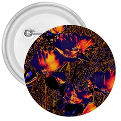 Amazing Glowing Flowers 2a 3  Buttons by MoreColorsinLife