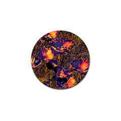 Amazing Glowing Flowers 2a Golf Ball Marker (4 Pack) by MoreColorsinLife