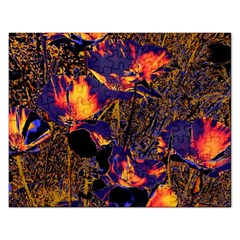 Amazing Glowing Flowers 2a Rectangular Jigsaw Puzzl by MoreColorsinLife