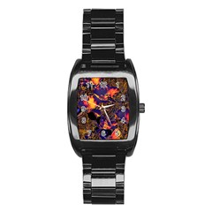 Amazing Glowing Flowers 2a Stainless Steel Barrel Watch by MoreColorsinLife
