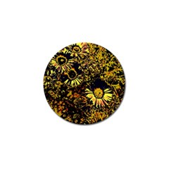 Amazing Neon Flowers B Golf Ball Marker (10 Pack) by MoreColorsinLife