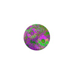 Amazing Neon Flowers A 1  Mini Buttons by MoreColorsinLife