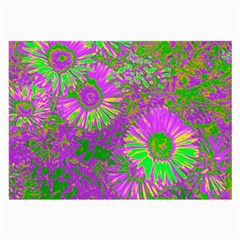 Amazing Neon Flowers A Large Glasses Cloth by MoreColorsinLife