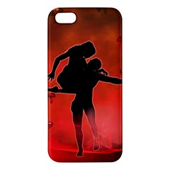 Dancing Couple On Red Background With Flowers And Hearts Iphone 5s/ Se Premium Hardshell Case by FantasyWorld7