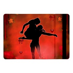 Dancing Couple On Red Background With Flowers And Hearts Apple Ipad Pro 10 5   Flip Case by FantasyWorld7
