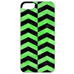 Chevron2 Black Marble & Green Watercolor Apple Iphone 5 Classic Hardshell Case