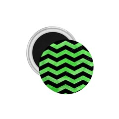 Chevron3 Black Marble & Green Watercolor 1 75  Magnets by trendistuff