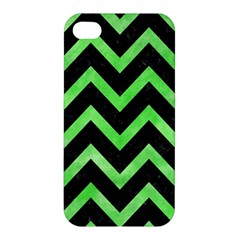 Chevron9 Black Marble & Green Watercolor Apple Iphone 4/4s Hardshell Case by trendistuff