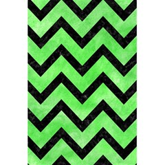 Chevron9 Black Marble & Green Watercolor (r) 5 5  X 8 5  Notebooks by trendistuff