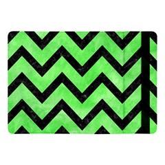 Chevron9 Black Marble & Green Watercolor (r) Apple Ipad Pro 10 5   Flip Case