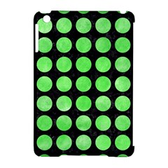 Circles1 Black Marble & Green Watercolor Apple Ipad Mini Hardshell Case (compatible With Smart Cover) by trendistuff